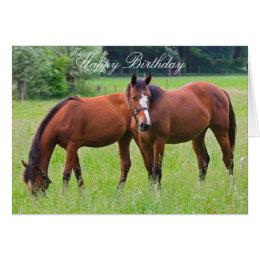 Horse birthday cards invitations zazzle horse beautiful custom horses birthday card bookmarktalkfo Images