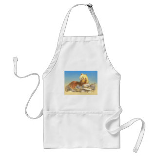 horse behind the stone wall standard apron