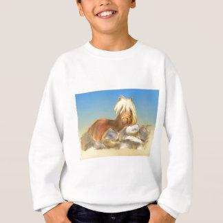 horse behind the stone wall sweatshirt