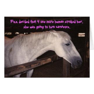 horse birthday card card