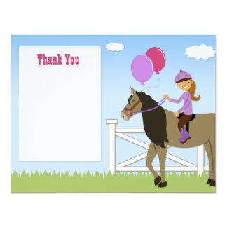 Horse Birthday Party Thank You Card 11 Cm X 14 Cm Invitation Card