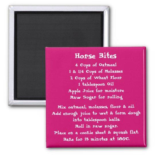 Horse Bites Recipe Magnet colour