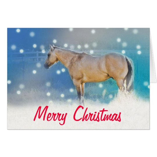 Horse (blue) ~ Christmas Card