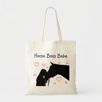 Horse Boss Babe tote bag
