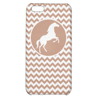 Horse; Brown Chevron iPhone 5C Cover