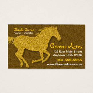 Horse Business Card - Brown