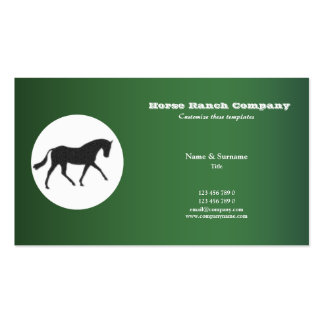 Horse business marketing business cards