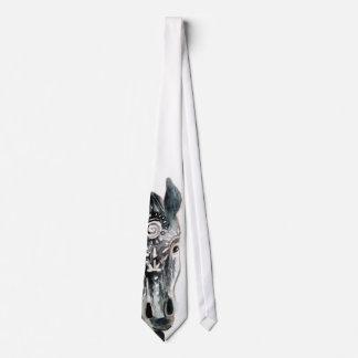 Horse Caballo Art Watercolor Tie
