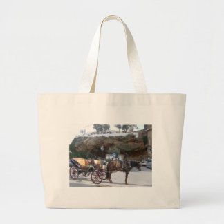 Horse carriage in Mijas Tote Bag