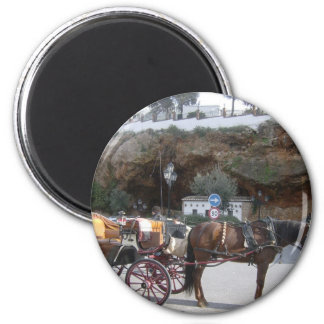 Horse carriage in Mijas Magnet