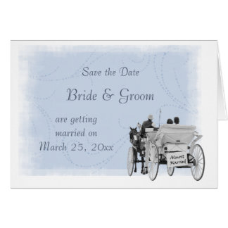 Horse & Carriage - Save the Date - Almost Married Card