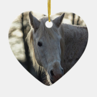 Horse Ceramic Heart Decoration