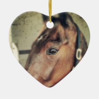 Horse Ceramic Heart Decoration