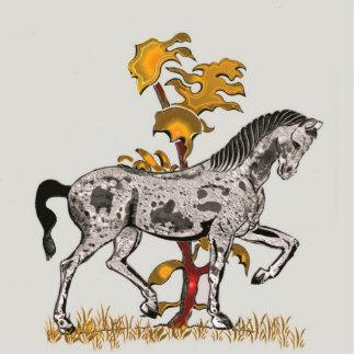 Horse Champ Gold Photo Sculpture