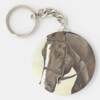HORSE Champion Appendix QH Mare Basic Round Button Key Ring