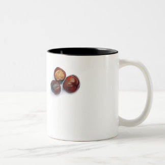 horse chestnut Two-Tone coffee mug