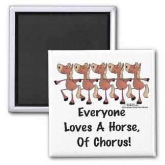 Horse Chorus Line Square Magnet