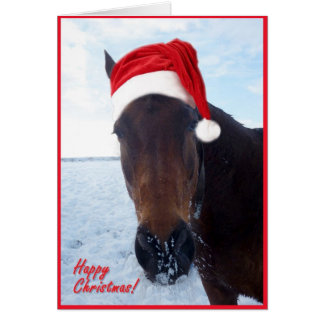 Horse Christmas Card - blank inside