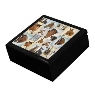Horse Collage Jewelry Box