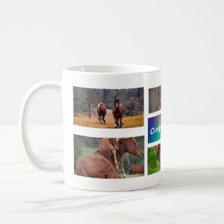 Horse Collage Photo Mug