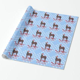 Horse Colt Santa's Helper Santa's Hat Wrapping Paper
