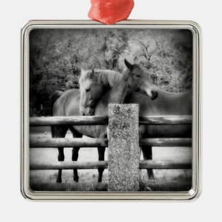 Horse Couple - Tender Love on the Farm Christmas Ornament