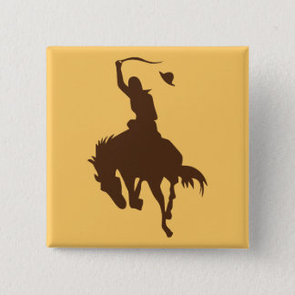 Horse & Cowboy 15 Cm Square Badge