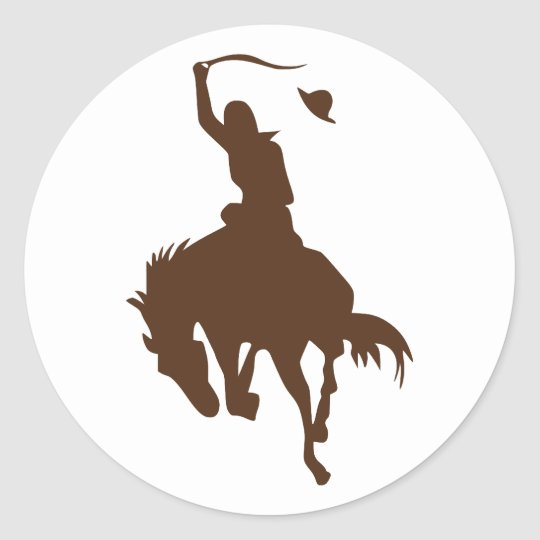 Horse & Cowboy Classic Round Sticker