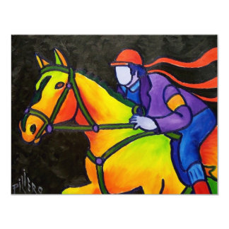 Horse Dashing Card