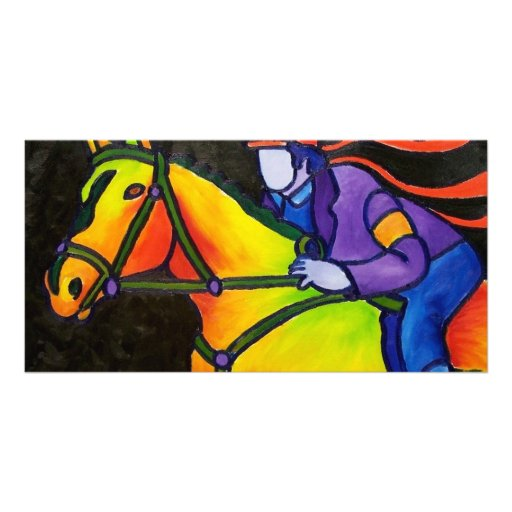 Horse Dashing Photo Card Template