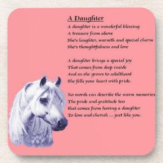 Horse - Daughter Poem Coaster