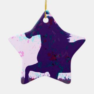 Horse Ceramic Star Decoration