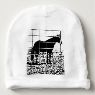 Horse design baby beanie