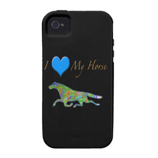 "Horse Design ""I Love Horses"" Vibe iPhone 4 Cases"