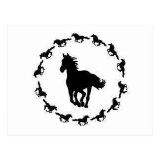 Horse Design Silhouette Postcard