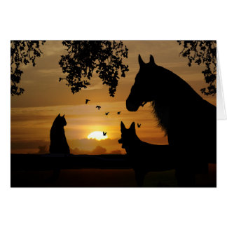 Horse, Dog and Cat Pet Sympathy Card