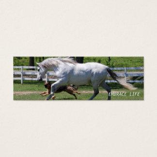 HORSE & DOG EMBRACE LIFE MINI BUSINESS CARD