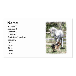 HORSE & DOG PLAY WATERCOLOR PACK OF STANDARD BUSINESS CARDS