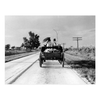 Horse drawn – 1938. postcard