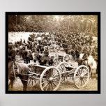 Horse Drawn Cannons near Fair Oaks, VA 1862 Posters