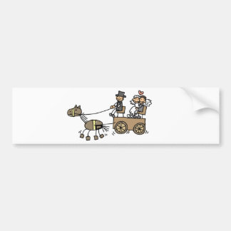 Horse Drawn Carriage For Weddings Bumper Stickers