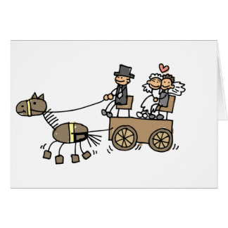 Horse Drawn Carriage For Weddings Greeting Card