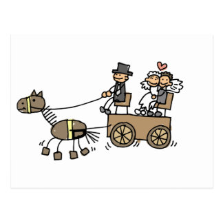 Horse Drawn Carriage For Weddings Post Cards