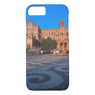 Horse drawn carriage in the Plaza de Espana in iPhone 8/7 Case