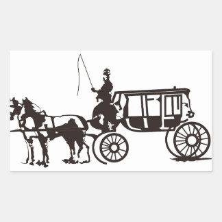 Horse Drawn Carriage Rectangular Sticker