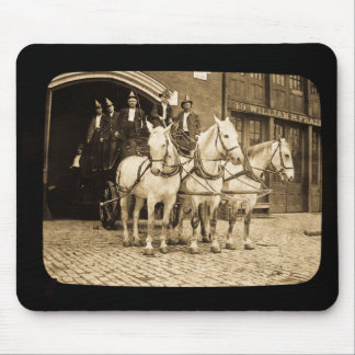 Horse Drawn Hook and Ladder Fire Company - Vintage Mouse Mat