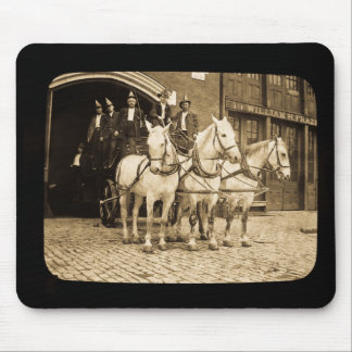 Horse Drawn Hook and Ladder Fire Company - Vintage Mouse Pad