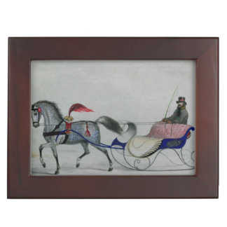 Horse Drawn Sleigh Keepsake Box