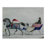 Horse Drawn Sleigh Postcards
