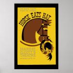 Horse Eats Hat Poster